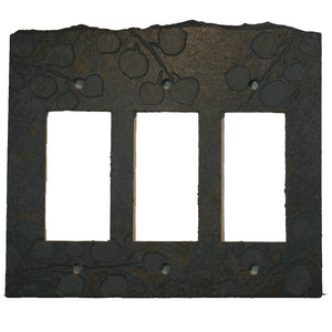 Aspens Ebony Antiqued Stone Switch Plate