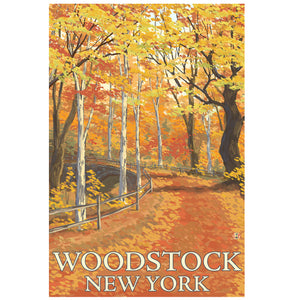 Woodstock Autumn Scene Sticker