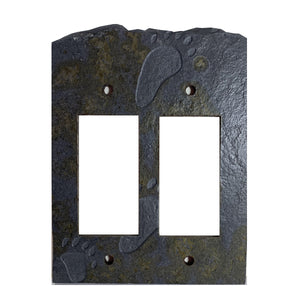 Bear Tracks Coppers Mine Stone Switch Plate