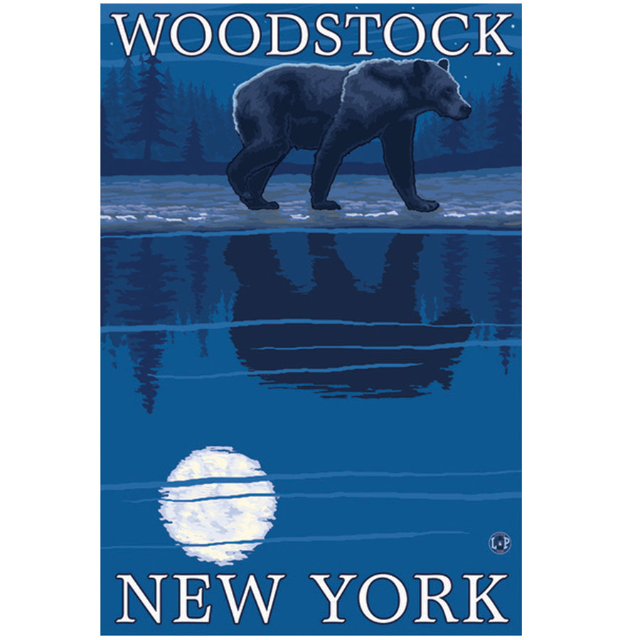 Woodstock Bear at Night Giclee Print