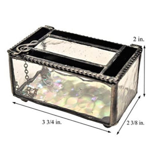 Clear and Black Musical Clef Box