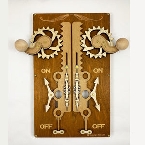 Steampunk Kinetic Switch Plates Rectangular