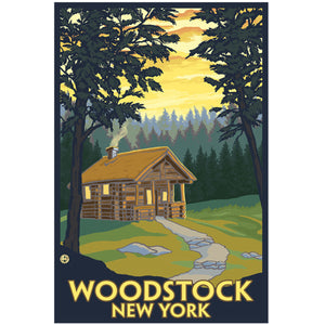 Woodstock Cabin Sticker