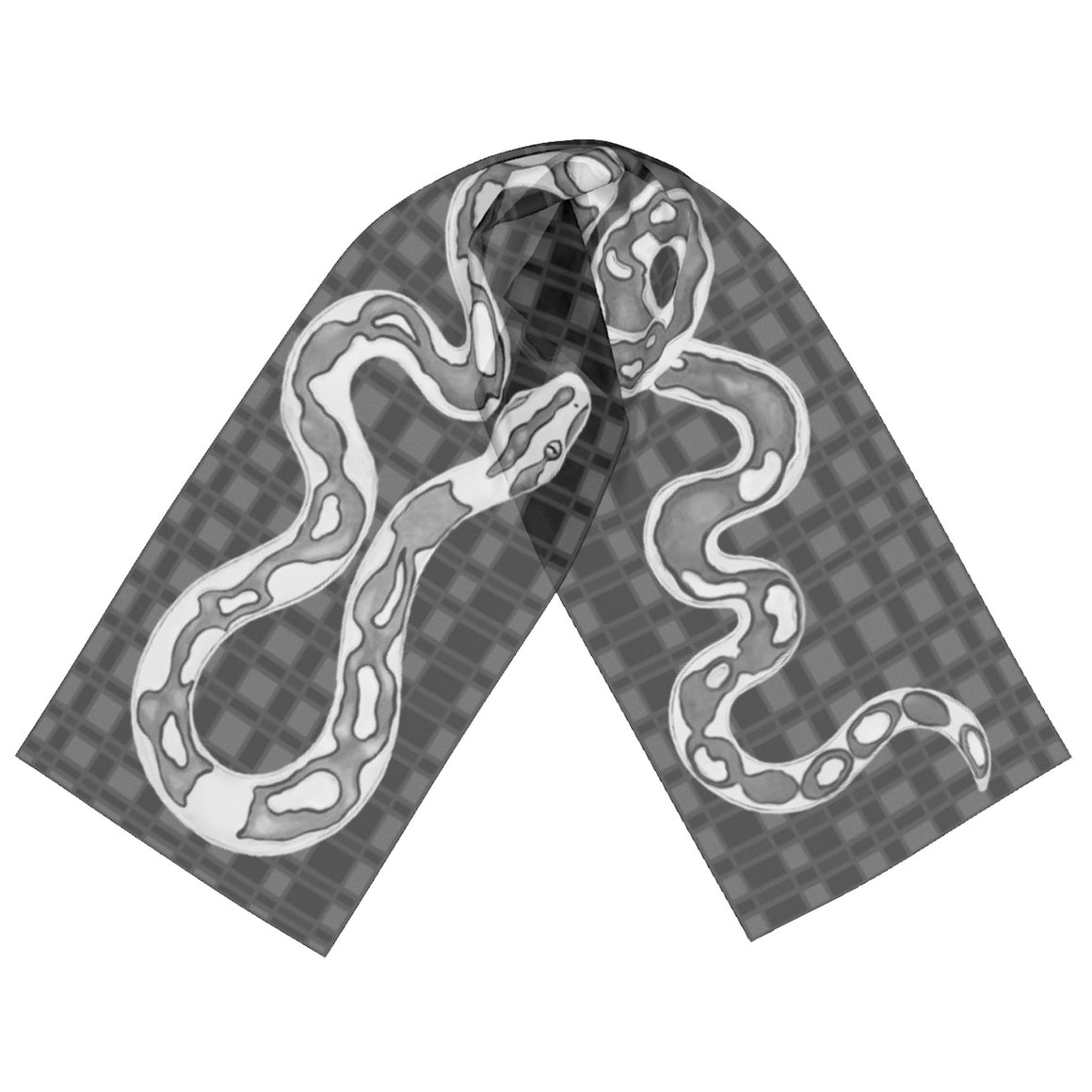 Copy of Checkers the Snake Scarf Black and White