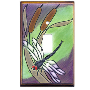 Dragonfly Bulrush Switch Plate