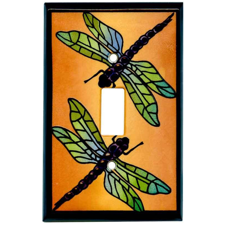 Dragonfly Multicolored Switch Plate