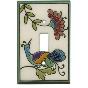 Fantasy Bird White Switch Plate