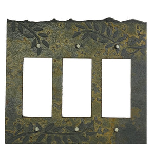 Fern Coppers Mine Stone Switch Plate