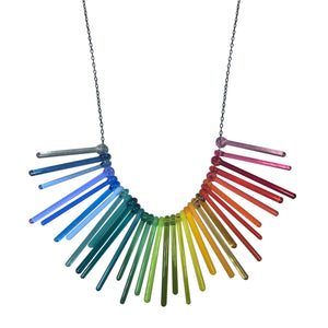 Full Spectrum Glass Rainbow Necklace