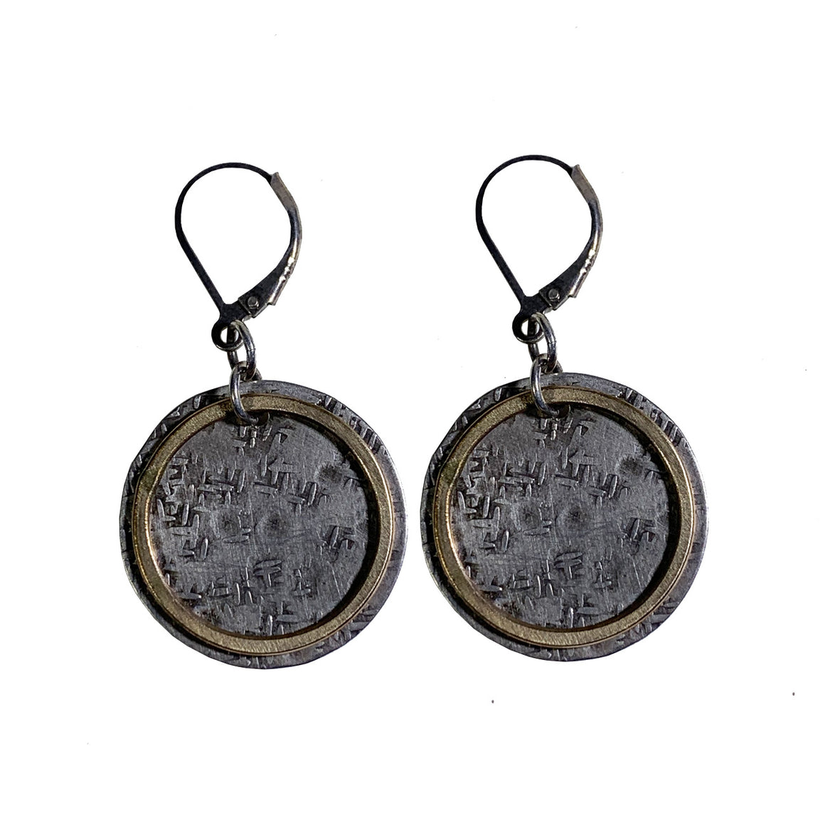 Sterling Earrings with 14k Goldfill Circles