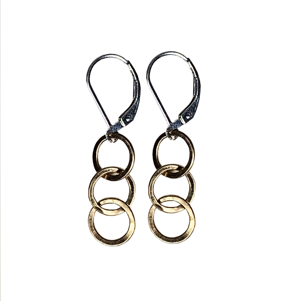 14kt Goldfill Interlocking Circle Drop Earrings