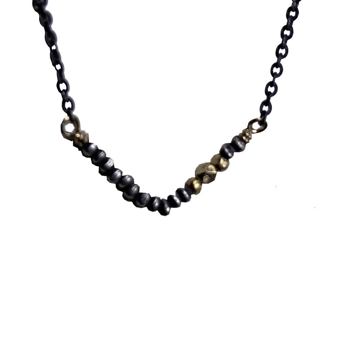 Sterling & 14kt Gold Vermeil V and Sterling Chain