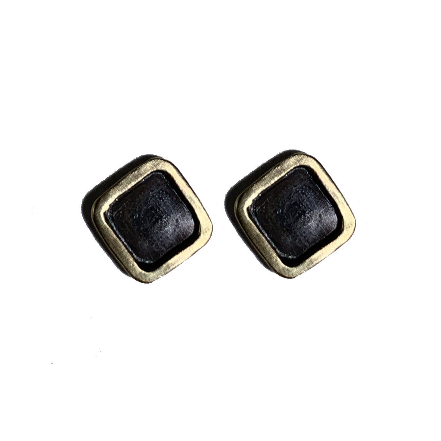 14kt Gold Vermeil Framed Sterling Silver Earrings