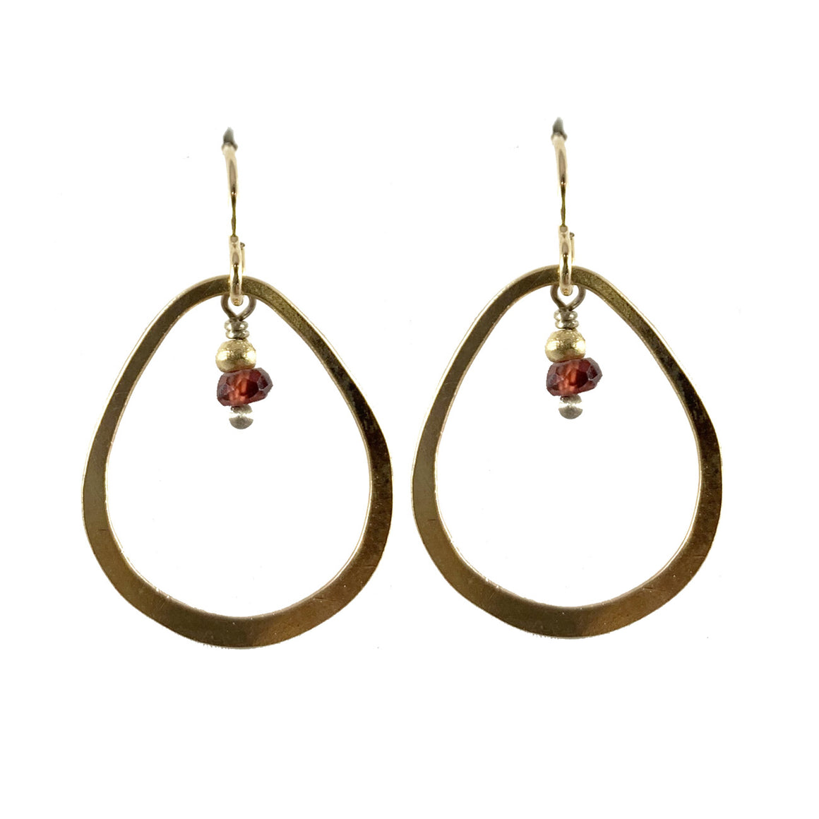 14kt Goldfilled Teardrop Earrings with Garnet