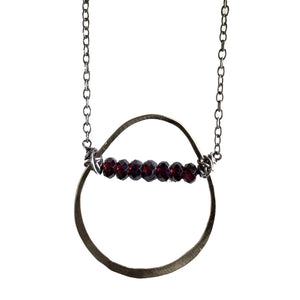 14k Goldfilled Teardrop with Garnet Necklace