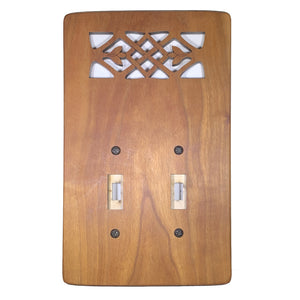 Double Wood Tulip Motif Switch Plate