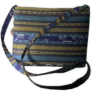 Ikat Canvas Purse with Zipper