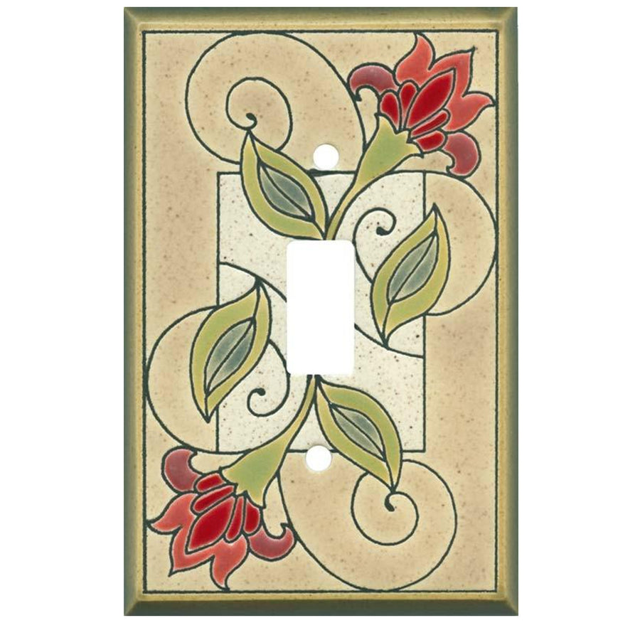 Jacobean Flowers Switch Plate