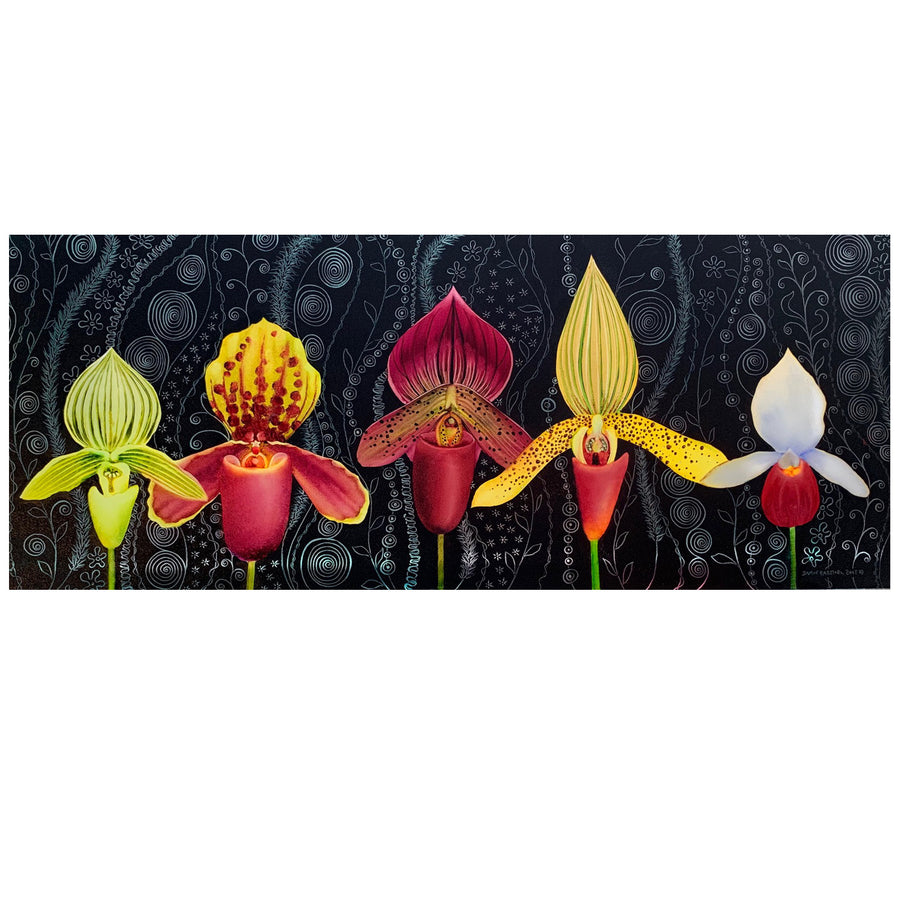 "Lady Slippers 9"" x 22"""