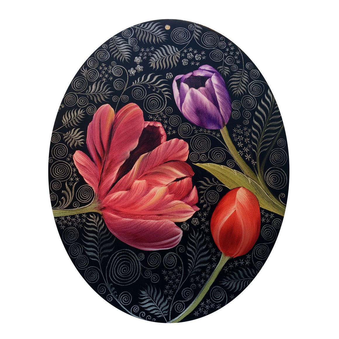 Oval 11 x 14 Tulip Window Hanging