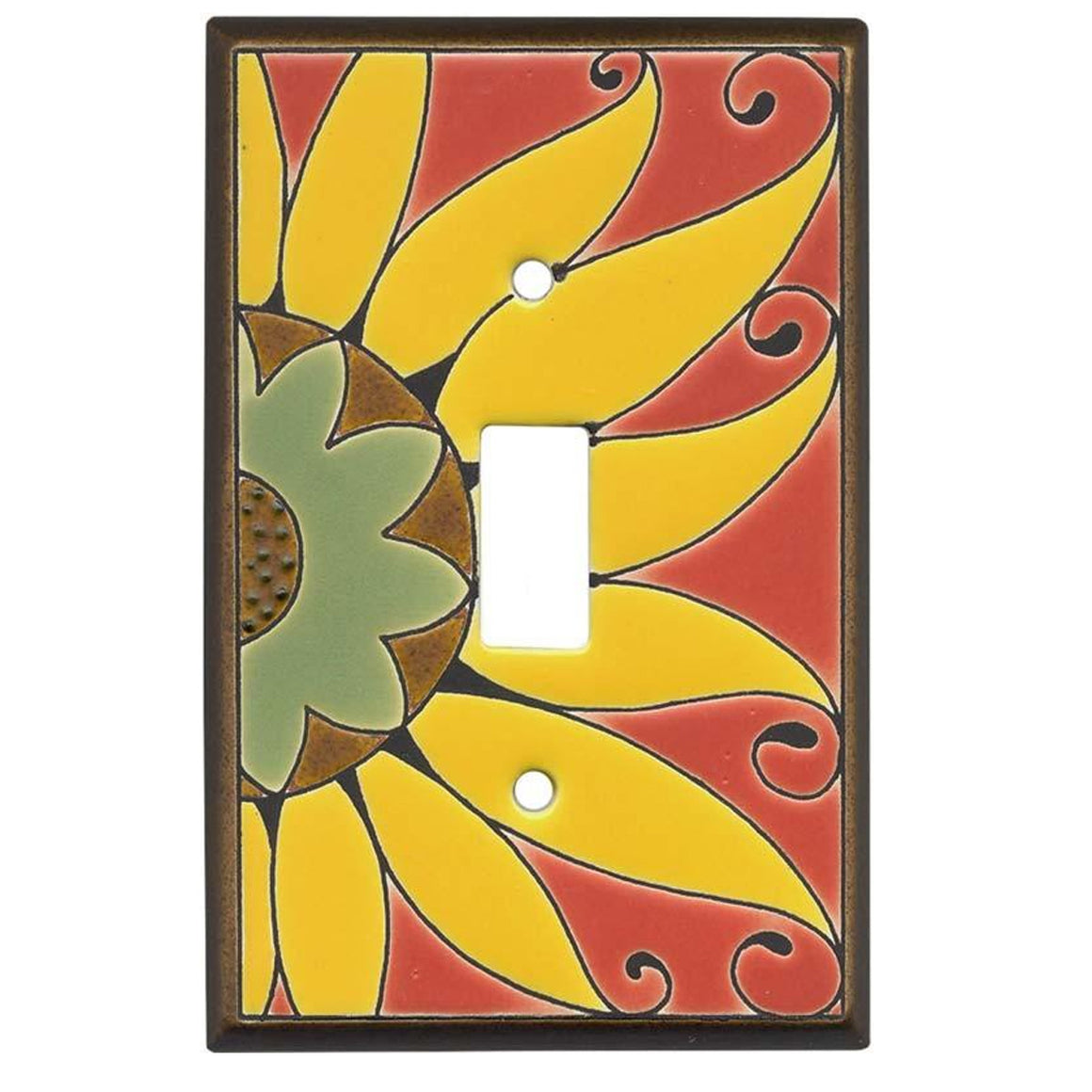 Mexican Sunflower Switch Plate