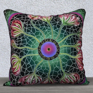 Mosaic Tulips Pillow