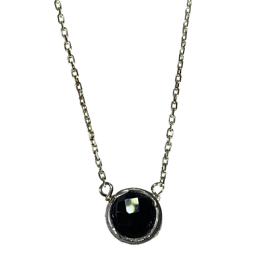 Onyx and Sterling Pixie Necklace