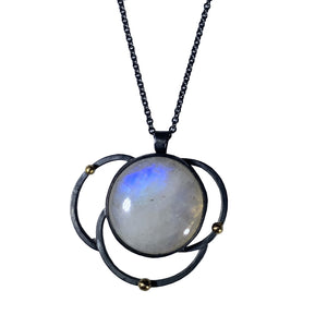 Orbit Necklace with moonstone