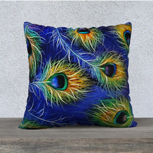 Peacock Multi-Feathered Pillow