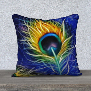 Peacock Single Feathered Pillow