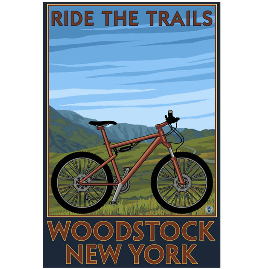 Woodstock Ride the Trails Giclee Print