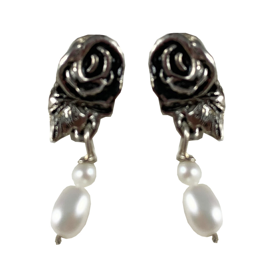 Roses and Pearls Earrings