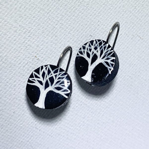 Little Painted Tree Earrings