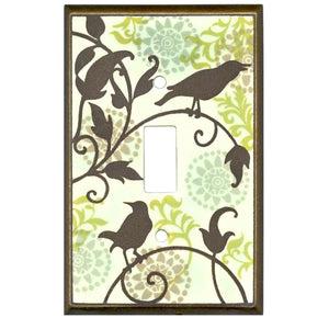 Songbirds Pattern Switch Plate