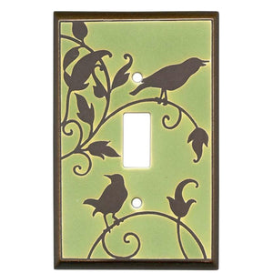 Green Songbirds Switch Plate