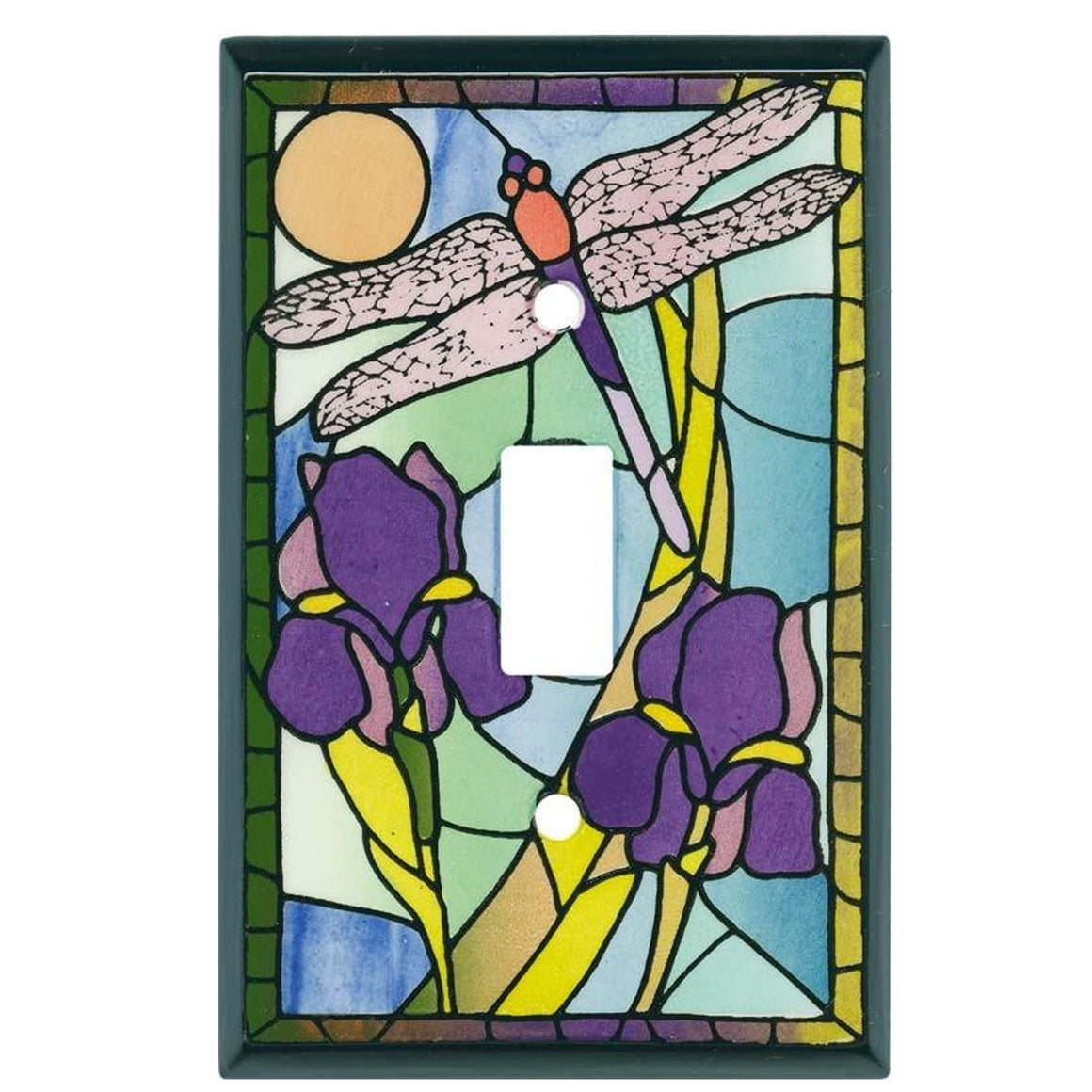 Stained Glass Dragonfly Switch Plate