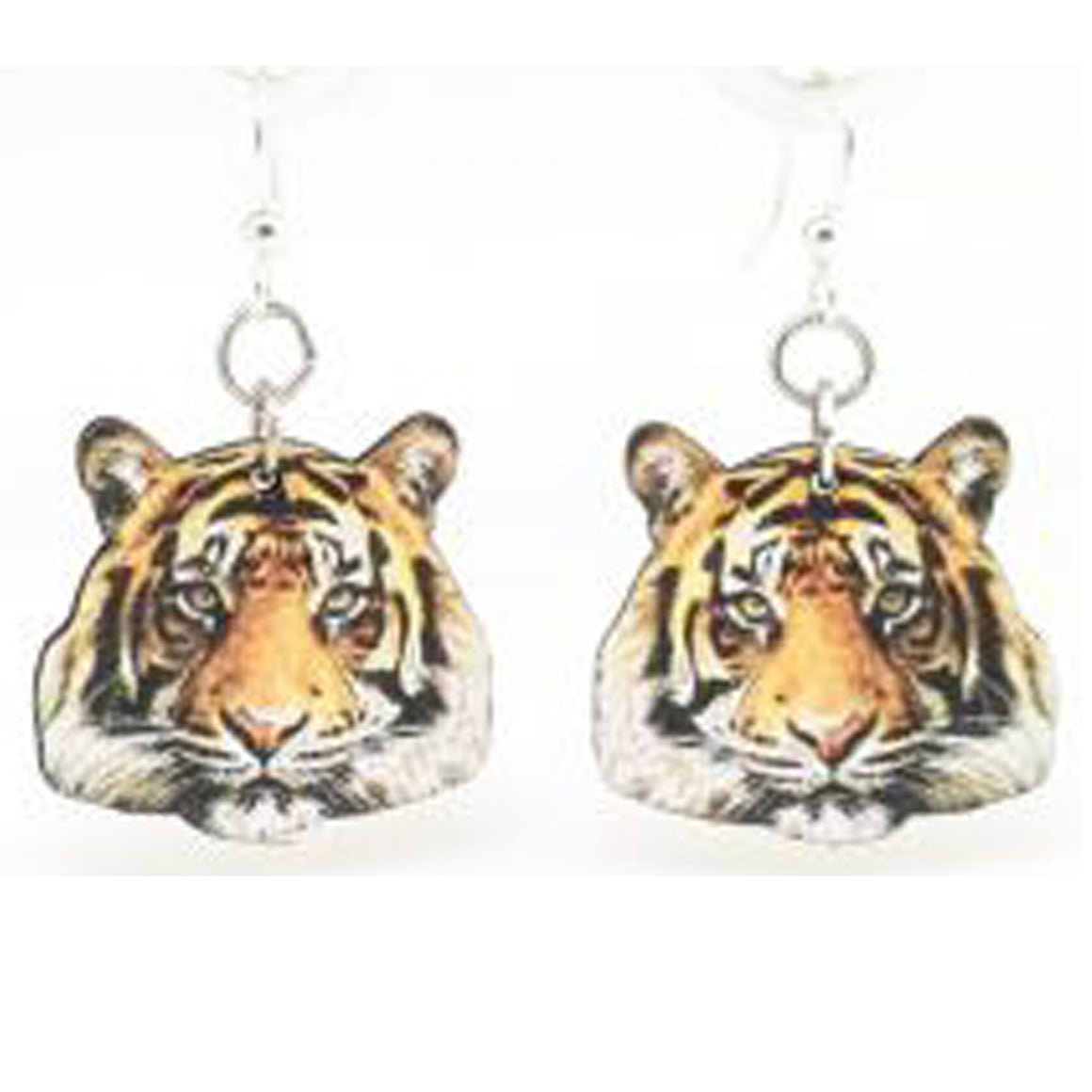 Wooden Tiger Earrings