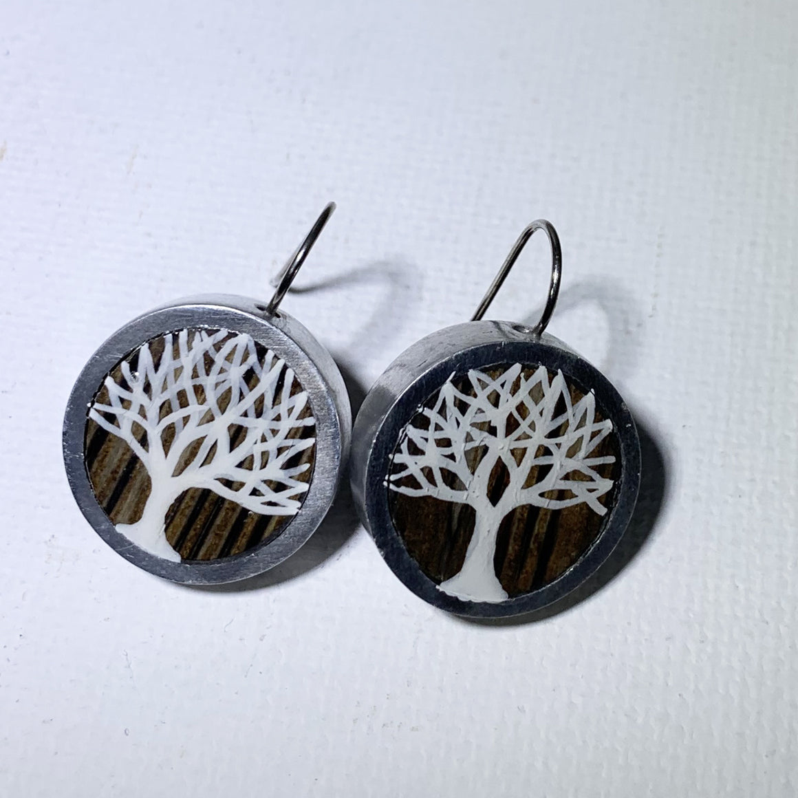 Painted Tree Earrings