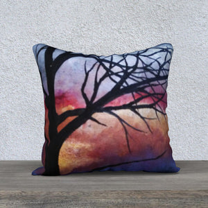 Tree Sunset Pillow