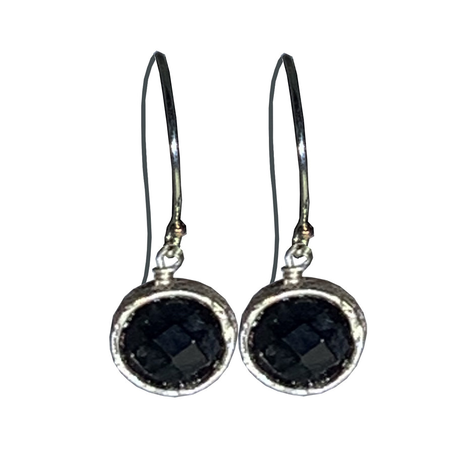 Black Onyx and Sterling Pixie Earrings