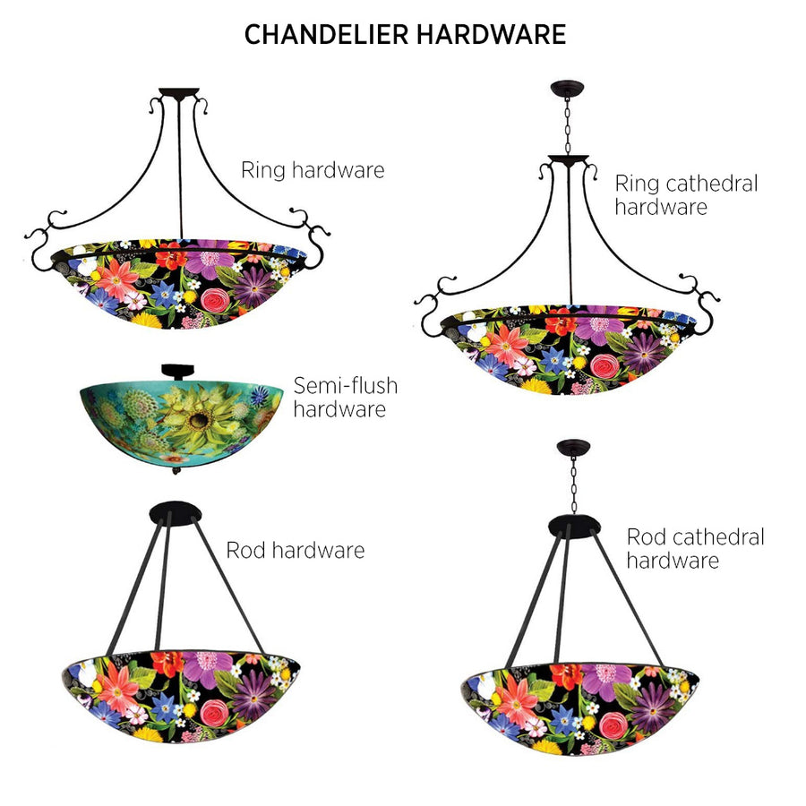 Light Floral Chandelier