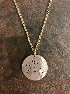 Handcrafted Aquarius Constellation Necklace