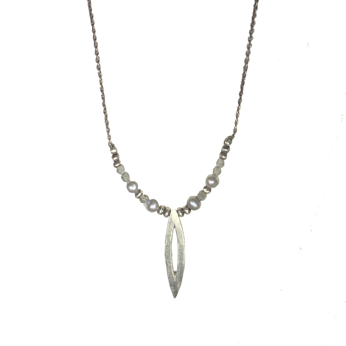 Sterling Open Marquis Necklace
