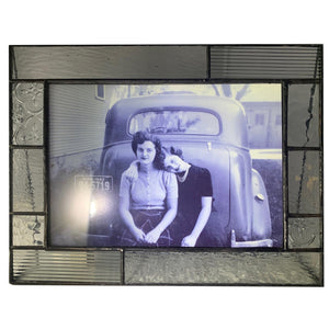 Clear Textured Horizontal 5x7 Frame