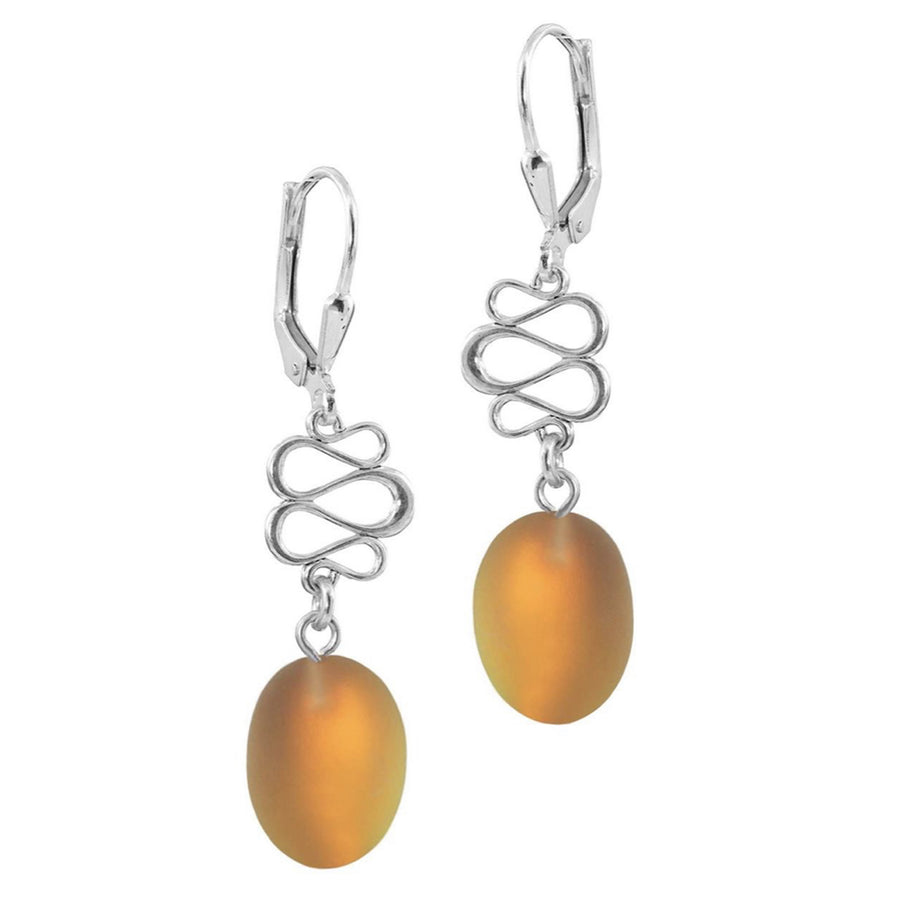 Earrings-Ovals w/swirls 08LW009