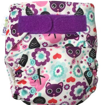 Ecopipo onesize pocket nappy Kittens print