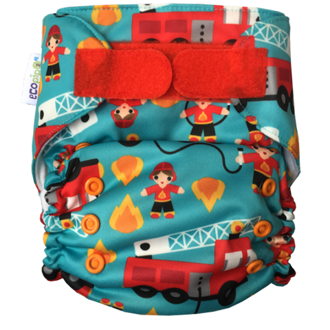 Ecopipo Onesize Pocket Nappy Firefighters
