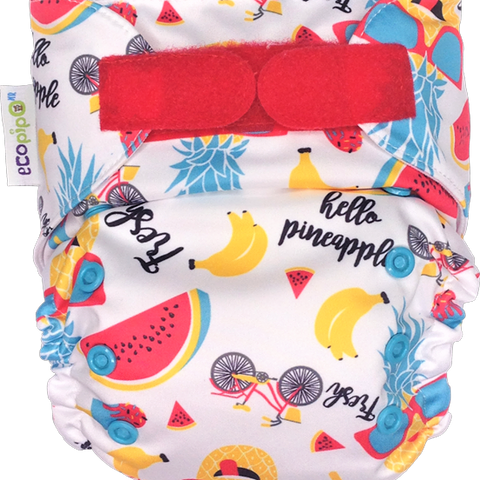 Ecopipo Onesize Pocket Nappy Fruit Salad print