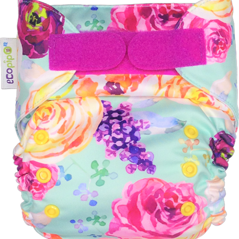 Ecopipo onesize pocket nappy Vintage Flowers