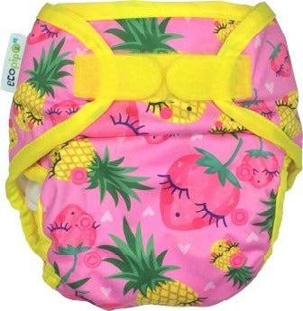 Ecopipo Onesize Hook and Loop PUL Nappy Wrap Tutti Frutti